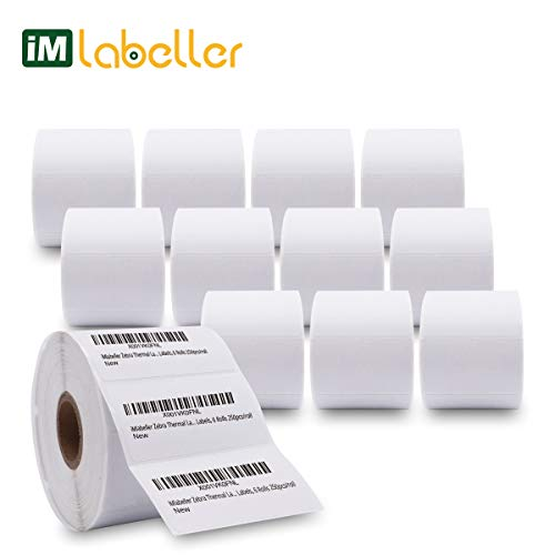 (iMlabeller Direct Thermal Labels 2.25 x 1.25 Zebra Thermal Labels Compatible with Zebra lp2824 lp2844 zp450 zp505 2-1/4x1-1/4 FBA SKU Barcode Label, 12 Rolls for 12000 pcs)