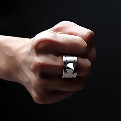 Cevinee™ Stainless Steel Concealed Self Defense Ring - Window Breaker - Personal Self-protection Necklace - Emergency Handy Weapon