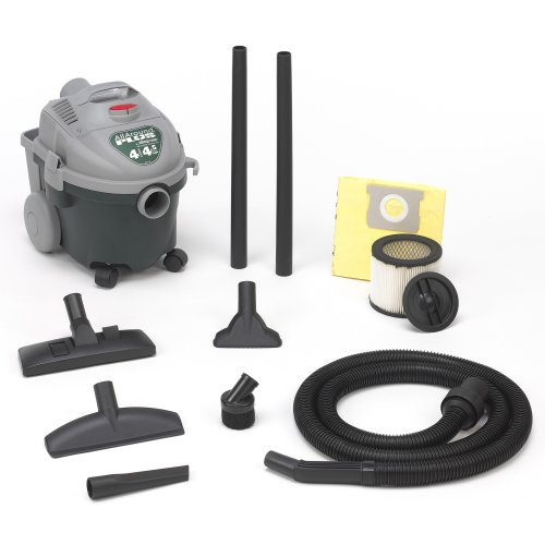 Shop-Vac 5870400 4-Gallon 4.5-PeakHorsepower All Around Wet/Dry Vacuum With Lock-On Hose, Tool & Cord Storage & Dual Filtration, Uses Type AA Cartridge Filter & Type D Filter Bag ()