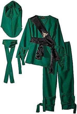 Underwraps Costumes Childrens Green Ninja Costume, Medium 6-8 Childrens Costume