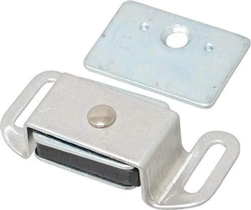 1-7//8 Long x 5//8 Wide Aluminum Cased Magnet Catch 2 Piece Set Value Collection 20 Sets Aluminum Finish