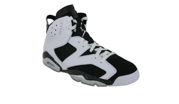 best sneakers 48a68 febc7 Amazon.com   Air Jordan 6 Retro  Oreo  - 384664-101 - Size 15 White, Black    Basketball