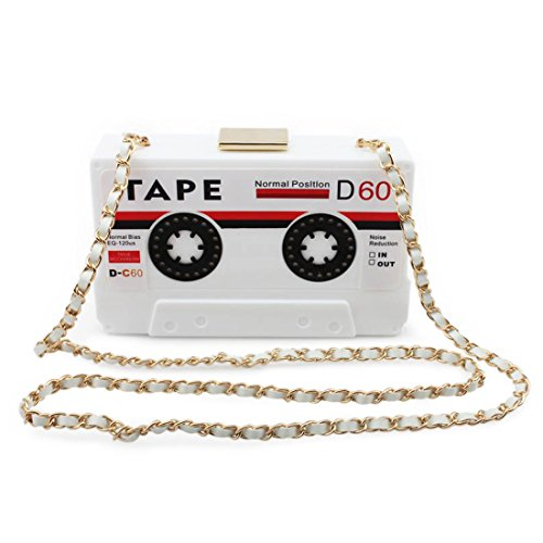 Kuang Women's Novelty Tape Shaped Shoulder Bag Vintage Clutch Evening (Vintage Box Purses)