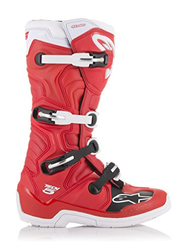 Tech 5 Off-Road Motocross Boot (8 US, Red White)