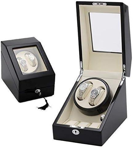 ワインディングマシーン 自動ウォッチワインダー腕時計ダブルボックス2 + 3サイレントモーターレザー枕カバーボックスシングルウォッチワインダーバッテリーウォッチ KANULAN