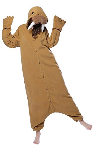 NEWCOSPLAY Sea Elephant Costume Sleepsuit Adult Onesies Pajamas