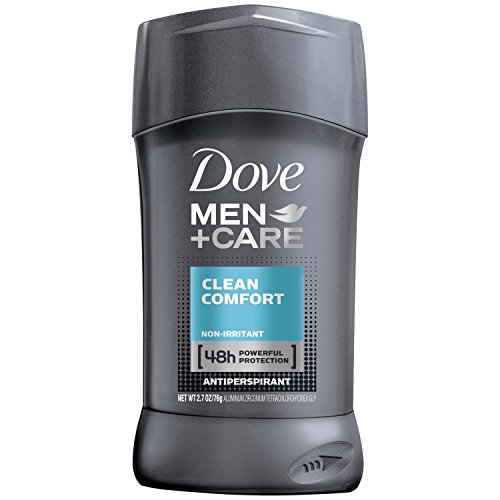 Dove Men+Care Antiperspirant Deodorant Stick Clean Comfort 2.7 Ounce (Value Pack of 6)