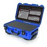 Nanuk 935 Waterproof Carry-On Hard Case with Lid Organizer and Foam Insert w/ Wheels - Blue