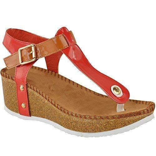 Neuf Chaussures Tongs Pointure Semelle Rouge Femmes Sandales Motif Matelassé Compensé Confort ngwXO0rHgq