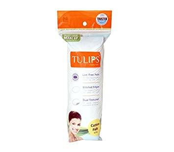 Tulips Cotton Pads, 50 Pieces - Pack of 1 Cotton & Swabs at amazon