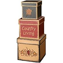 Your Hearts Delight 5-1/2 by 5-3/4-Inch Country Living Nesting Boxes, Large
