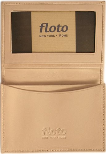 Firenze Leather Business Card Case Color: Cream