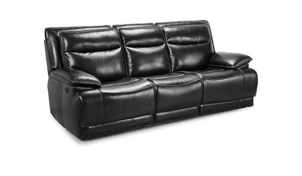 Magnificent Amazon Com The Roomplace Maverick Black Dual Reclining Sofa Inzonedesignstudio Interior Chair Design Inzonedesignstudiocom