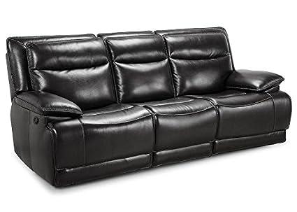 Brilliant Amazon Com The Roomplace Maverick Black Dual Reclining Sofa Inzonedesignstudio Interior Chair Design Inzonedesignstudiocom