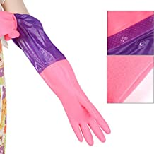 Ieasycan Long Warm Rubber Household Latex Gloves Clean Dish Lengthen for Laundry and Kitchen Cleaning Dishwashing