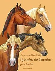 Livro para Colorir de Retratos de Cavalos para Adultos: 1