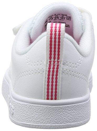 adidas Unisex-Kinder Vs ADV CL CMF Inf Fitnessschuhe, Weiß Weiß (White)
