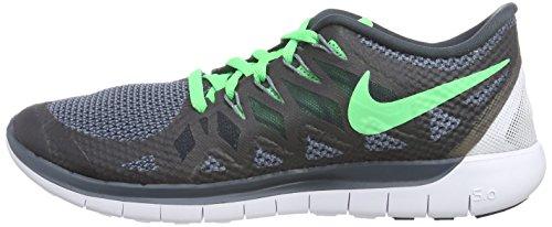Nike Free 5.0 Men Laufschuhe black-poison green-classic charcoal - 45