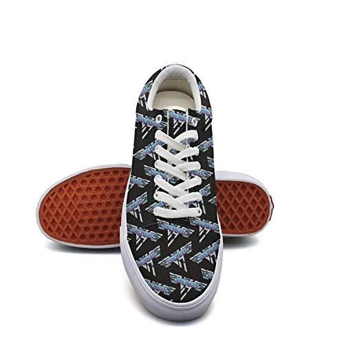 Gwende Zeno Logo-Van-Halen-CD Men's Canvas Skate Shoes Fashion Sneaker