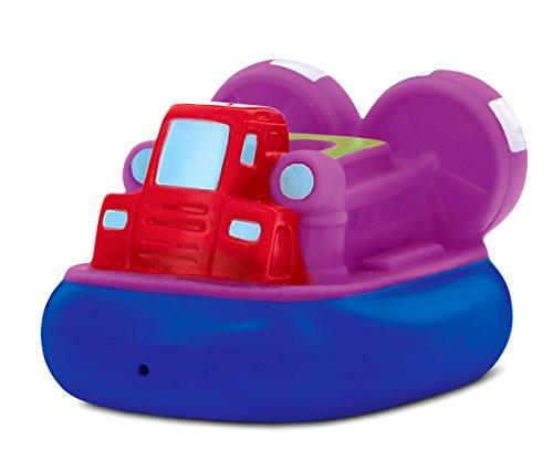 DolliBu COTA Global Bath Buddies Purple and Blue Airboat- 3 Inch - Squirter Bath Toy - Item #2800 Construction Bath Toy Squirters
