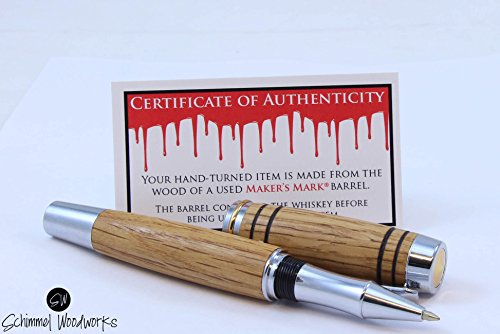 rollerball-pen-made-with-barrel-wood-from-a-makers-mark-whiskey-barrel