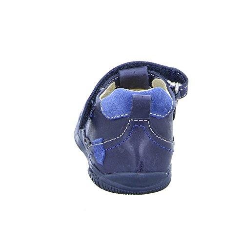 Primigi Kinder Halbschuh Blume - Zapatillas de Piel para niño azul azul