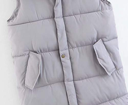 Pocket Down Hooded Vest Coat Giacca Womens Donna Outdoor fashion Da Jacket Grigio Moda Alla YPPC1RUW