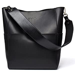 BOSTANTEN Women's Leather Designer Handbags Tote Purses Shoulder Bucket Bags