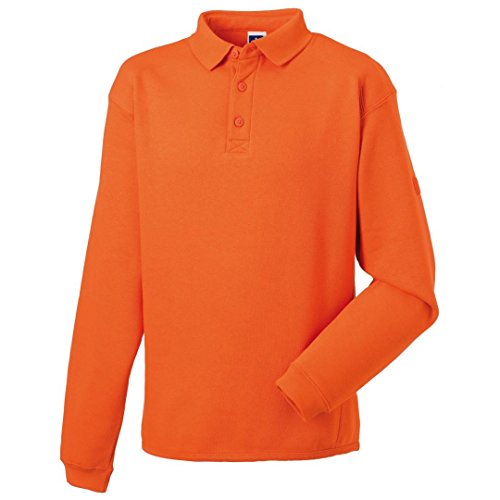 Russell Heavy Duty cuello sudadera Naranja naranja