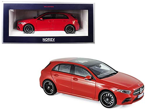 2018 Mercedes Benz A Class with Sunroof Red 1/18 Diecast Model Car by Norev 183594