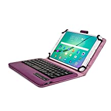 Kobo Arc 7, Arc 7 HD keyboard case, COOPER INFINITE EXECUTIVE 2-in-1 Wireless Bluetooth Keyboard Magnetic Leather Travel Cases Cover Holder Folio Portfolio + Stand Kobo Arc 7 HD, Arc 7 (Dark Purple)