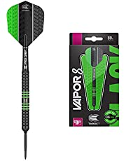 Target Darts Vapor 8 Black Green 80% Tungsten Swiss Point Steel Tip Darts Set