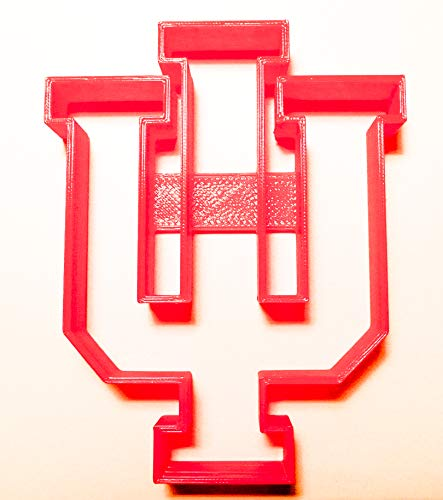 INDIANA HOOSIERS IU NCAA D1 FOOTBALL SPORTS LOGO SPECIAL OCCASION COOKIE CUTTER BAKING TOOL 3D PRINTED MADE IN USA PR992]()