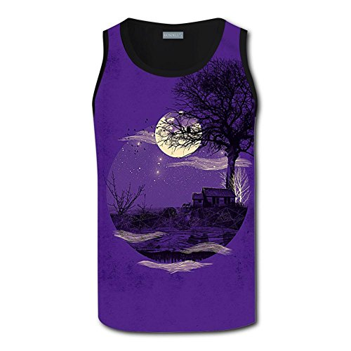 Jian Ptian Midnight Solitude Design Men Tanks Top Gym Work Out Suitable For Exercise