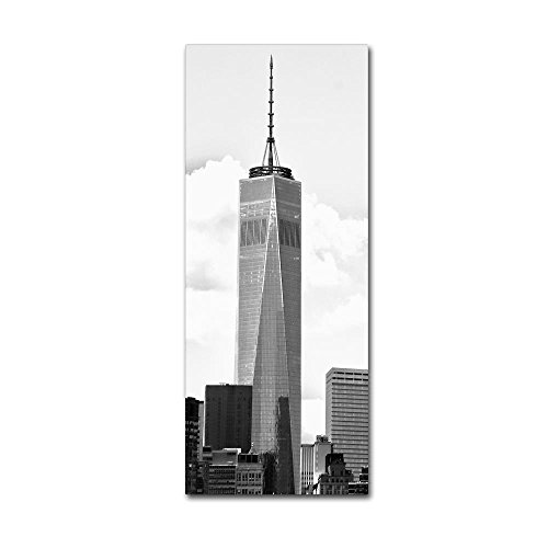 Freedom Tower BW by CATeyes, 20x47-Inch Canvas Wall Art