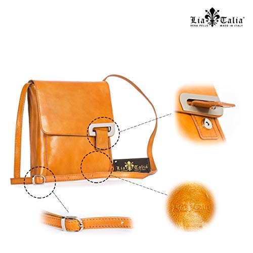 LiaTalia Handmade Womens Leather Shoulder FERN Cross Messenger Body Structured Handbag Coffee p47pwrq