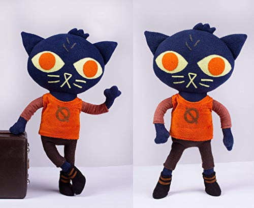 - Night in the Woods plush - Mae Borowski doll, handmade plush, 17 in high with poseable arms and legs