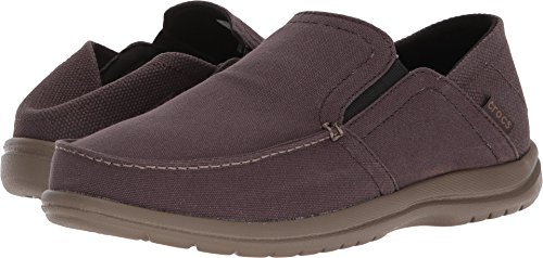 Crocs Men's Santa Cruz Convertible Slip-On Loafer, Espresso/Walnut, 11 M (Crocs Santa Cruz Men)