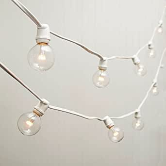 commercial led globe string lights 100 ft white wire 2 in bulb warm. Black Bedroom Furniture Sets. Home Design Ideas