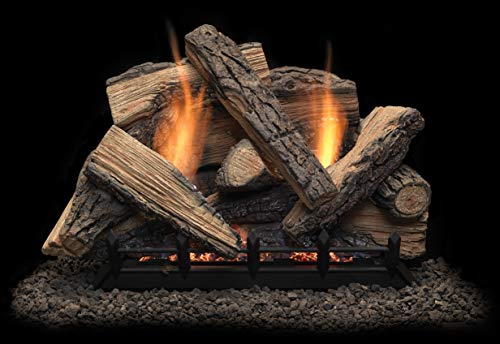 Monessen Stony Creek Ventless Gas Logs - Remote Ready - 24 inch - Natural Gas