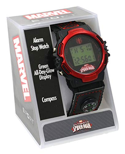 (Marvel #SPMAD602 Ultimate Spiderman Digital Watch with Velcro Band)