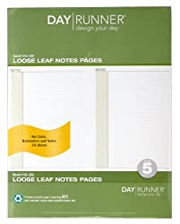 Day Runner Undated Planner Notes Refill, 8.5 X 11 Inches (018-200)