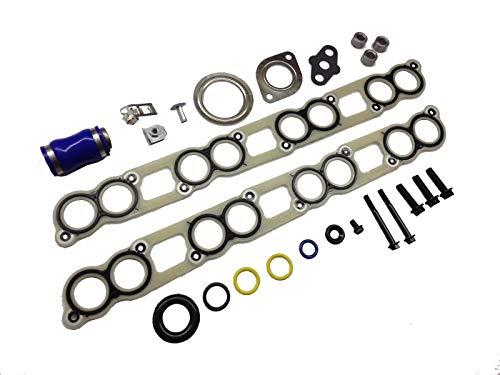(Ford Intake Manifold EGR Cooler Gaskets Turbo Install Hardware Ford 6.0L Powerstroke Diesel)