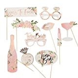 Photo Booth Props Pink and Gold Party Supplies