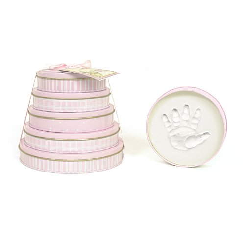 Child to Cherish Handprints Tower Of Time Kit in Pink by Child to Cherish