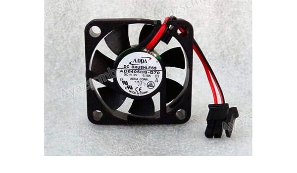 Ayazscmbs Compatibles para ADDA 40mm x 10mm Ventilador 5V DC 2 Pin ...