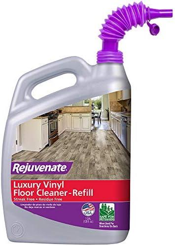 Rejuvenate 128 ounces Luxury Vinyl Floor Cleaner with Purple Pouring Spout