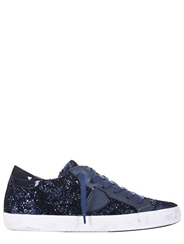 Philippe Model Paris Sneakers, Donna, Lurex, Blu