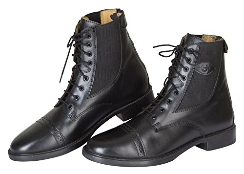 de talla negro 39 hípica color chaparreras Negro Reitette Kerbl Monaco Glattleder Polainas 4HORHqw