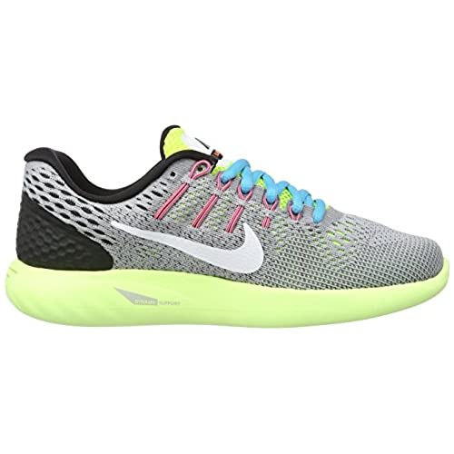 04208685af21 chic Nike Lunarglide 8 Wolf Grey Volt Gamma Blue White Women s Running Shoes